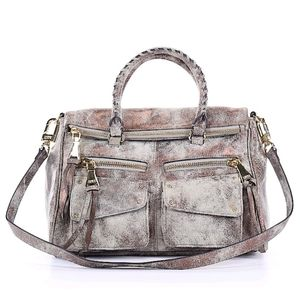 Aimee Kestenberg Metallic Leather Bag